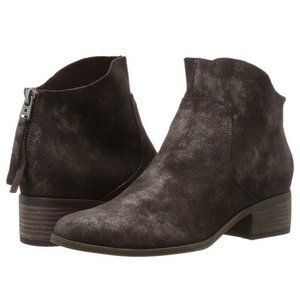 Lucky Brand Brown Leather LK-Lahela Heeled Booties